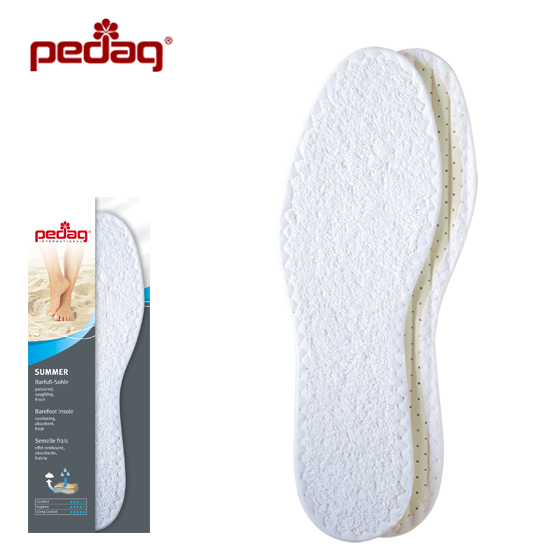 Pedag Washable Summer Pure Cotton Terry Barefoot Insoles